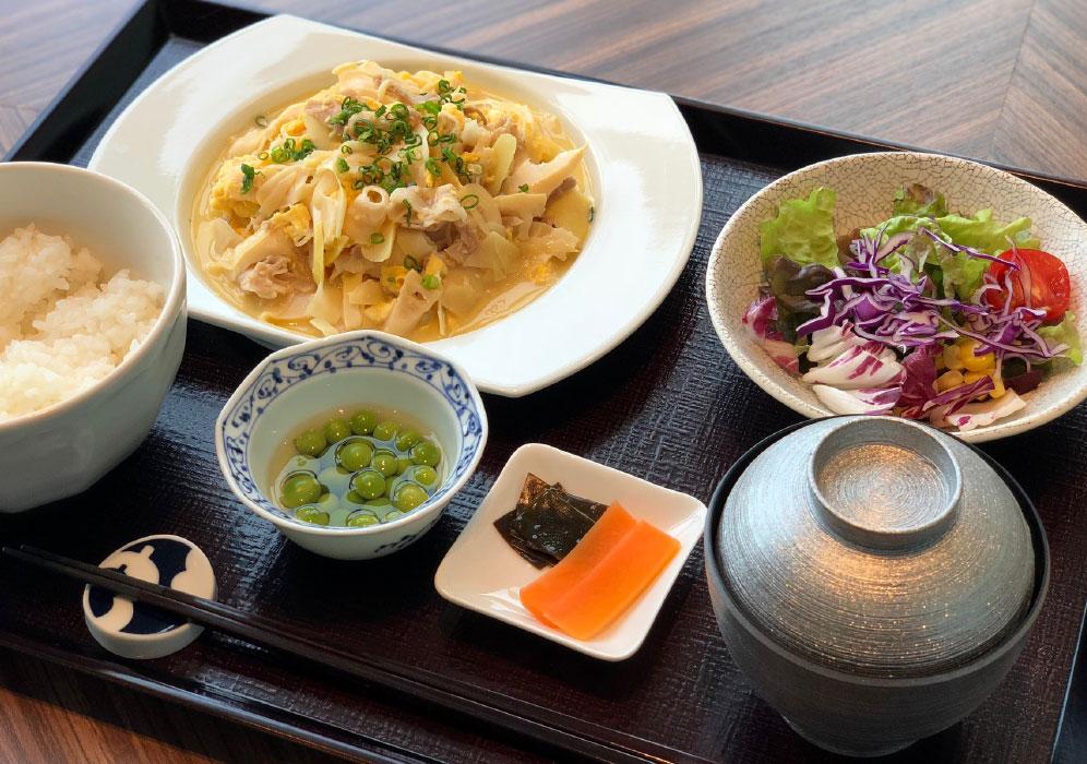三島村産 筍と豚肉と玉子〆定食